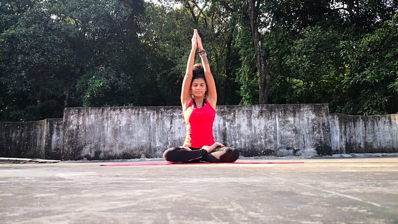 Yoga Seated Parvatasana Mountain Pose Stretches Mygalf