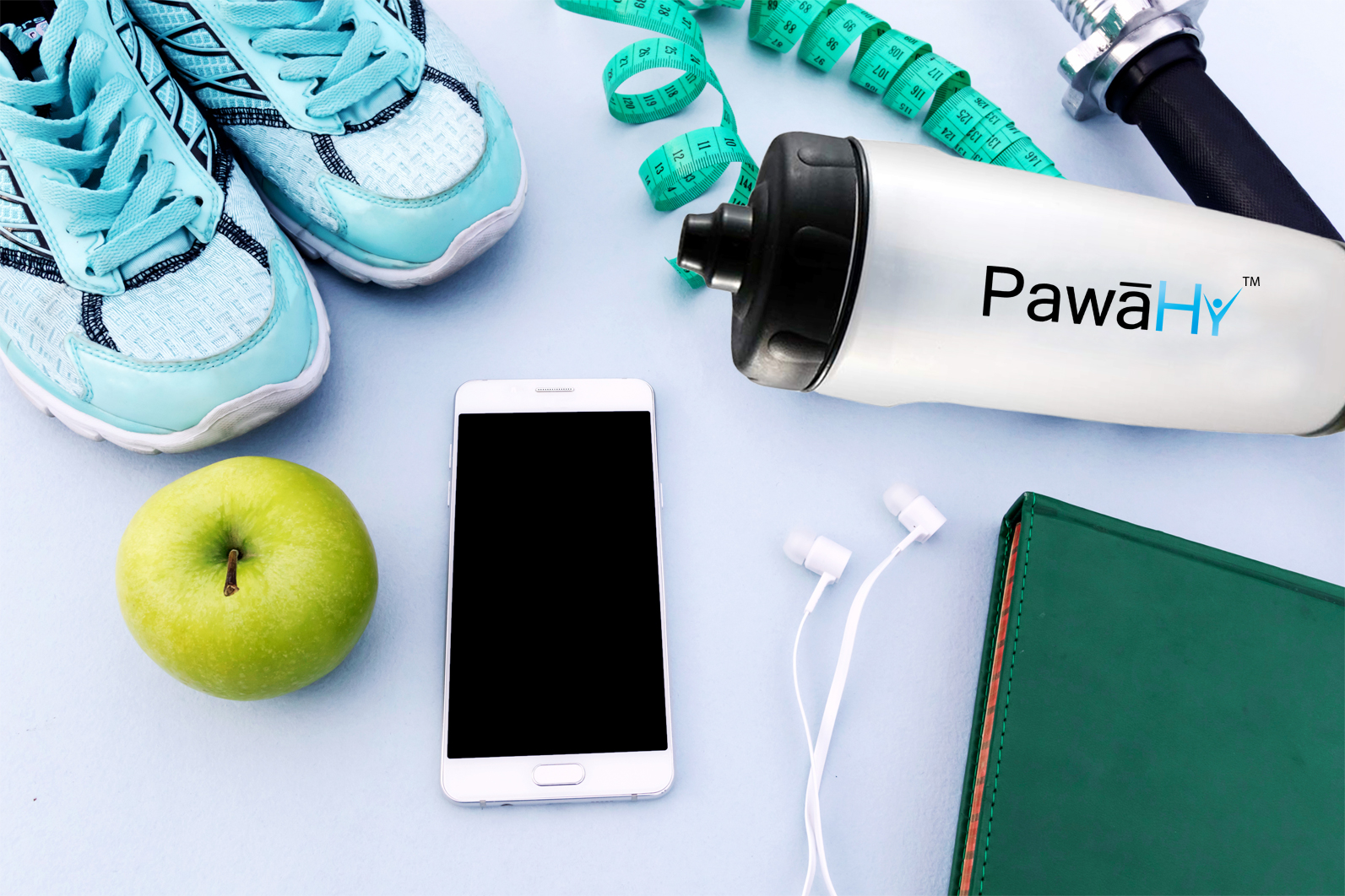 PawaHy Handheld Bottle For Cyclists, Runners, Marathoners & Other Outdoor Sports (Natural Color, 500ml)