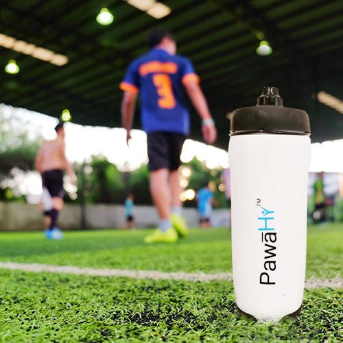 PawaHy Handheld Bottle for Cyclists, Runners, Marathoners & Other Outdoor Sports (White Color, 400ml)