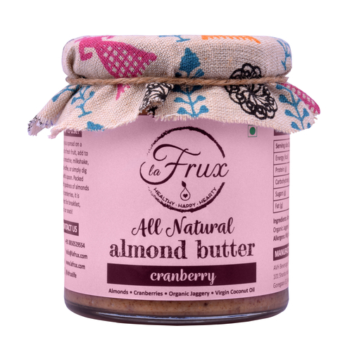 La Frux Cranberry Almond Butter - 200 Gms