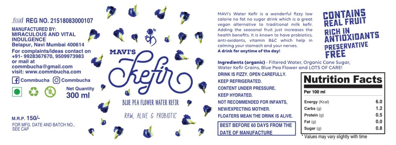 Blue Pea Flower Water Kefir