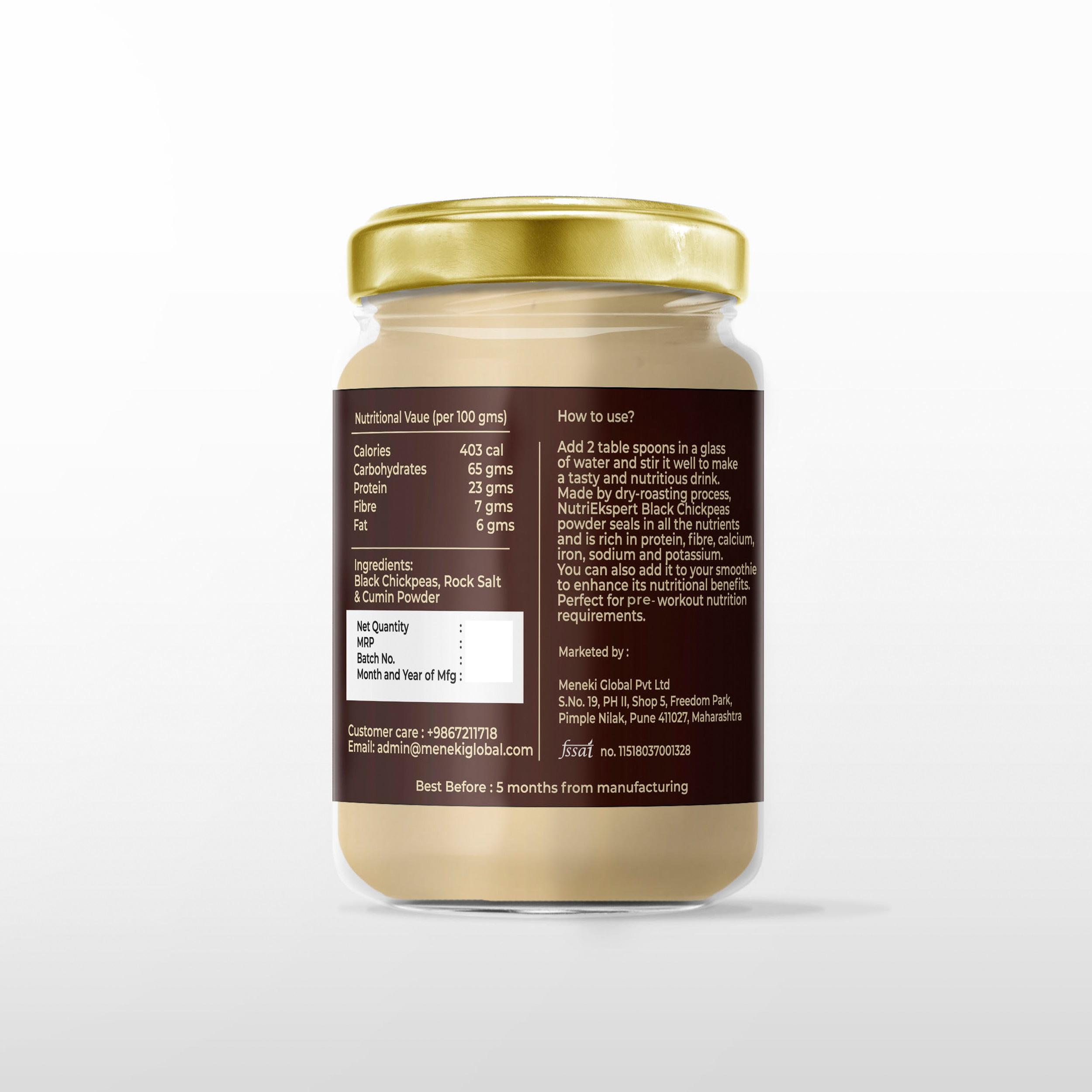 NutriEkspert Black Chickpeas Protein Powder- 200 Gms
