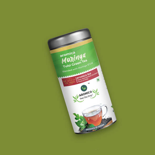Aromica Moringa Tulsi Green Tea- 100gm