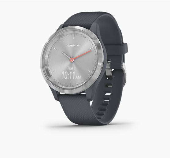 Garmin Vivomove3S Silver Granite Blue Silicon