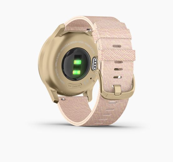 Garmin Vivomove Style Night Gold Blush Pink Nylon