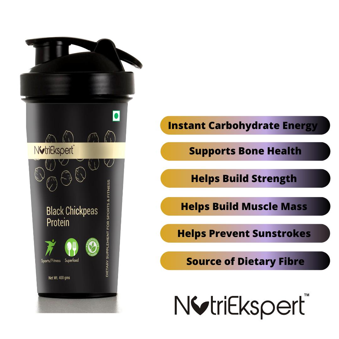 NutriEkspert Black Chickpeas Pre-Workout Supplement 400 Gms