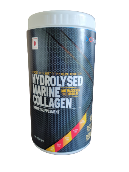 PawaCollagen- Hydrolysed Marine Collagen Powder 250 Gms Jar