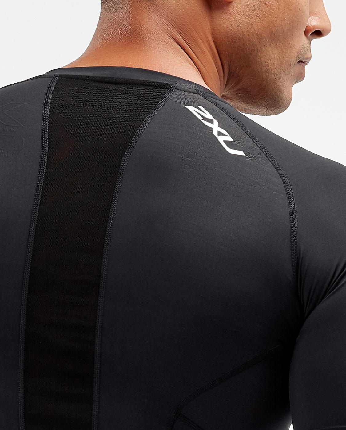 2XU Men's Compression Short Sleeve Top - Black/Silver