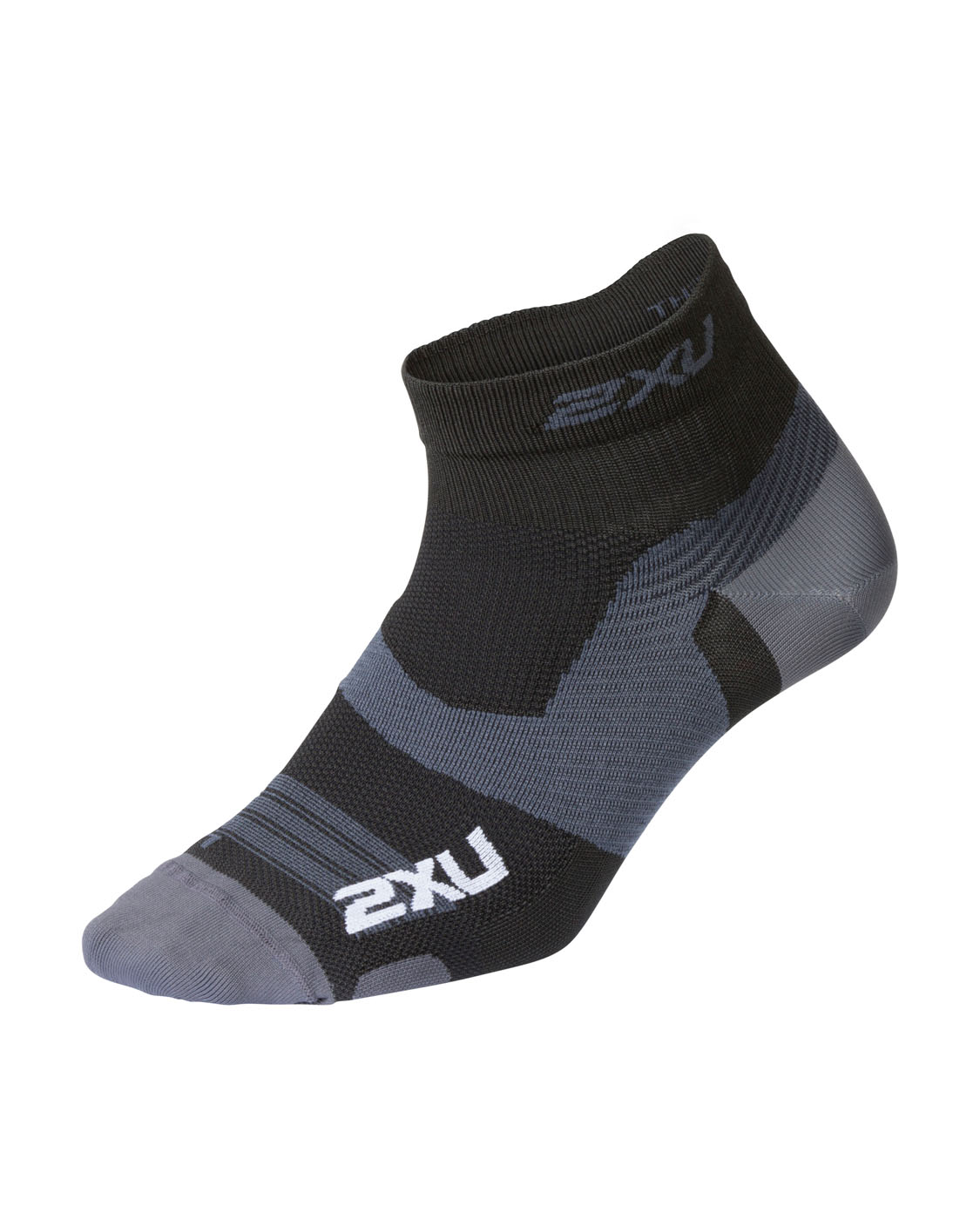 2XU Unisex Vectr Ultralight 1/4 Crew Sock - Black/Titanium