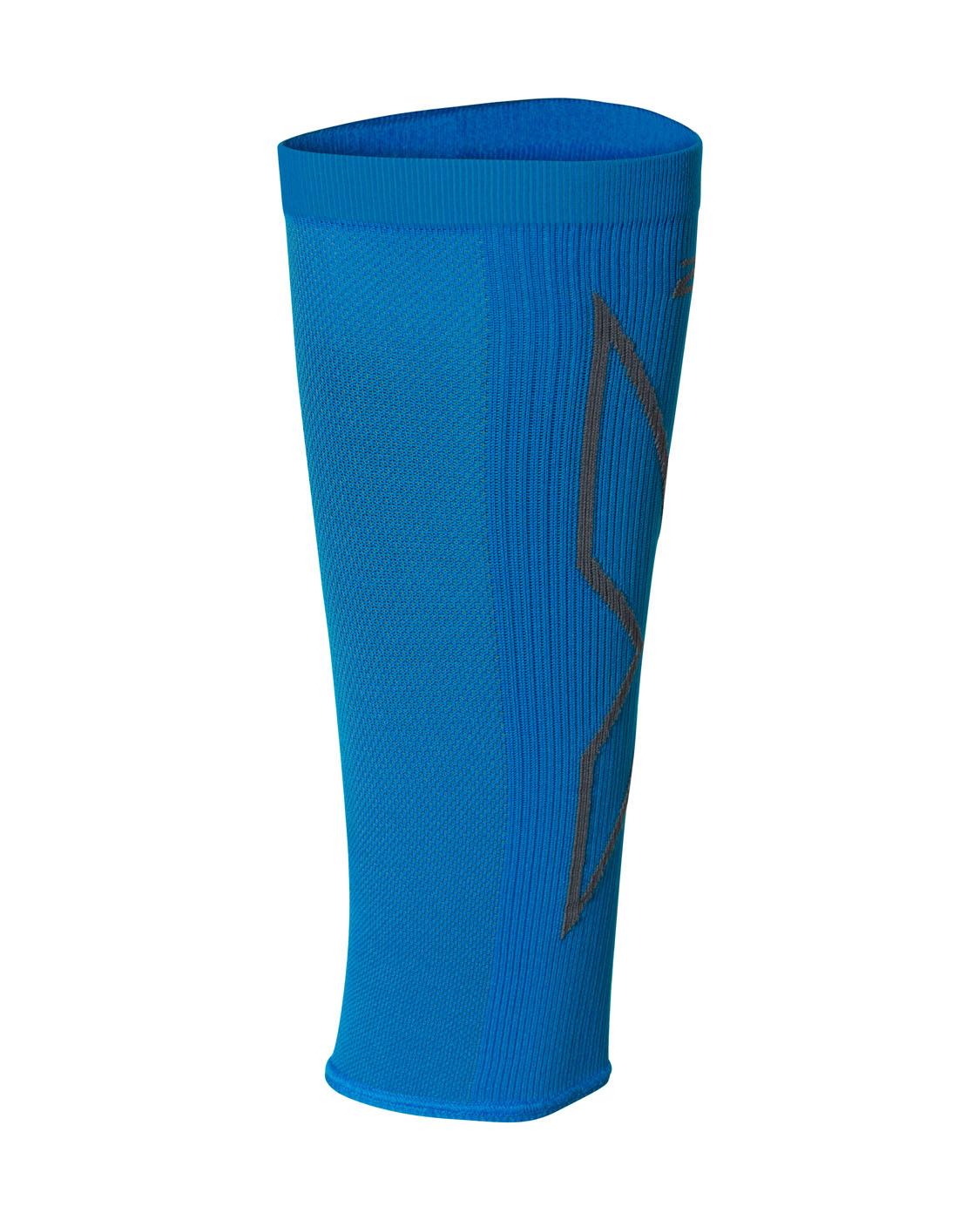 2XU Unisex X Compression Calf Sleeves - Vibrant Blue/Grey