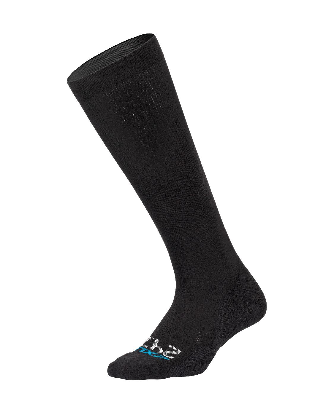 2XU Unisex 24/7 Compression Socks - Black/Black