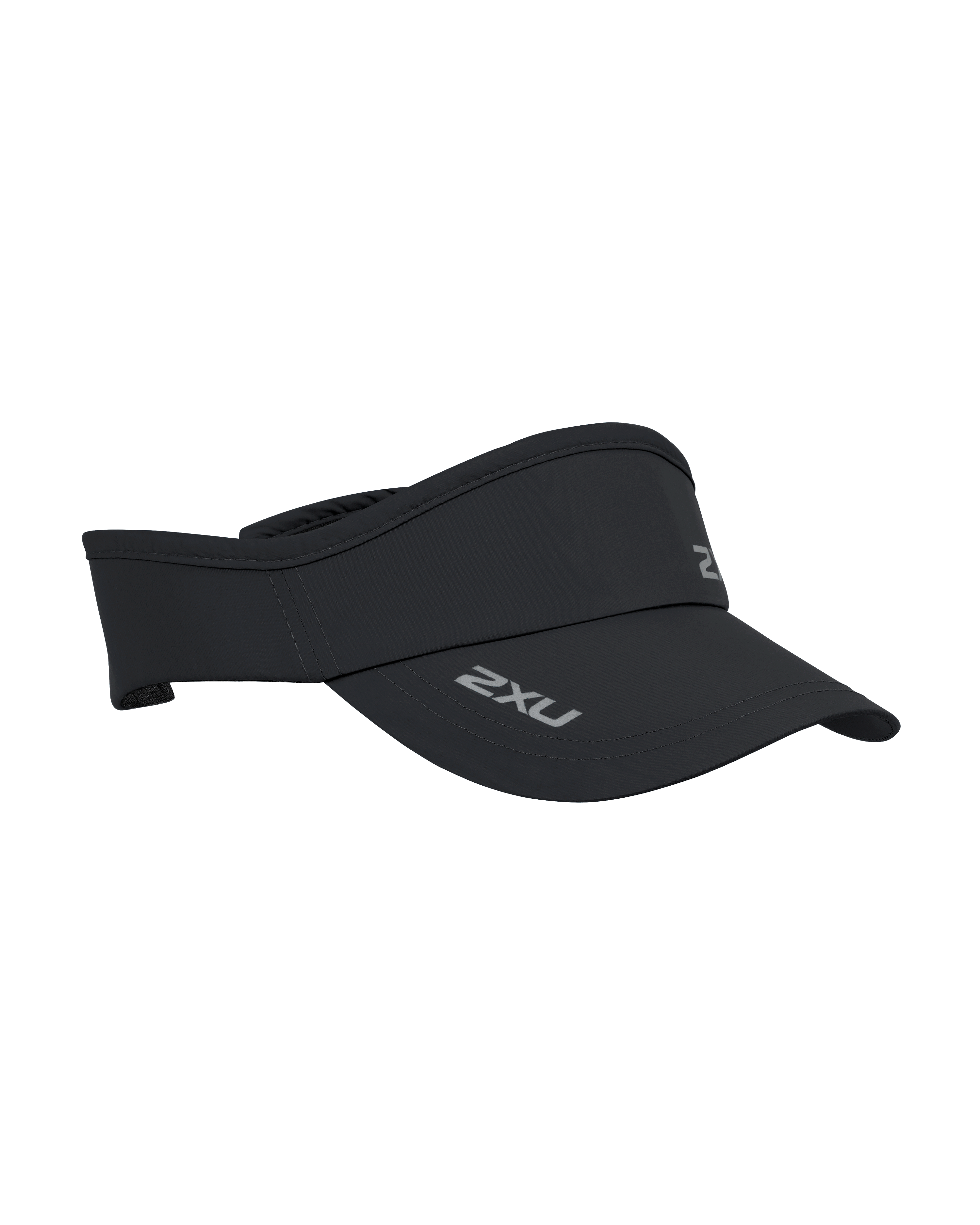 2XU Unisex Run Visor - Black/Black