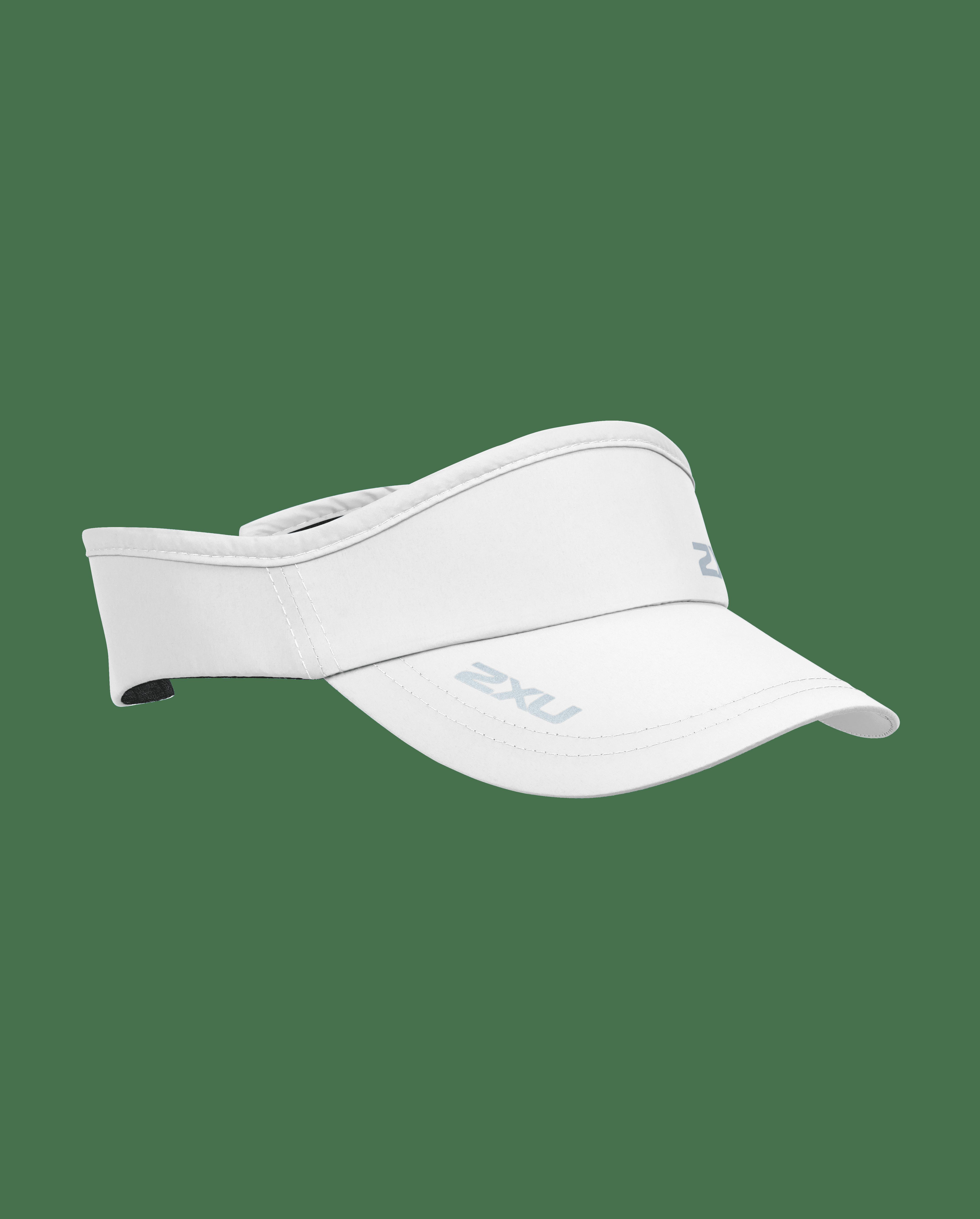 2XU Unisex Run Visor - White/White