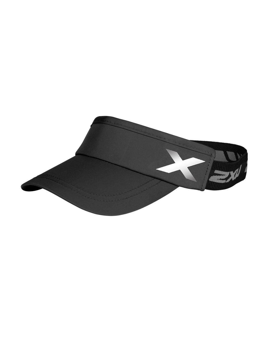 2XU Unisex Performance Visor - Black/Black