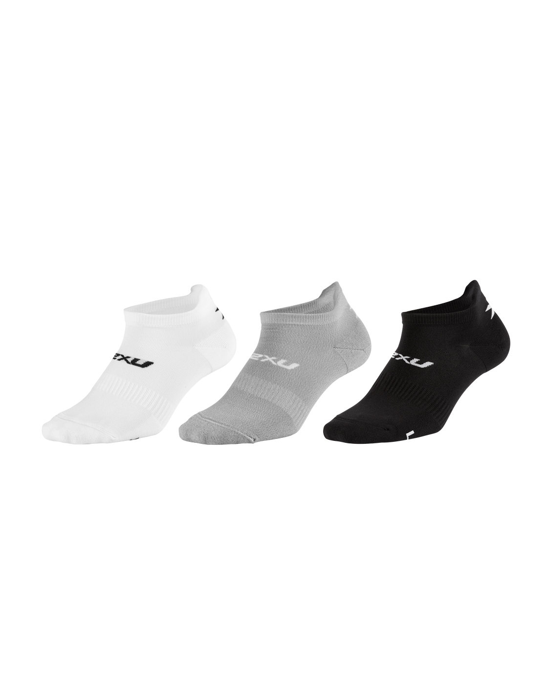 2XU Unisex Ankle Sock 3 Pack - Three Color