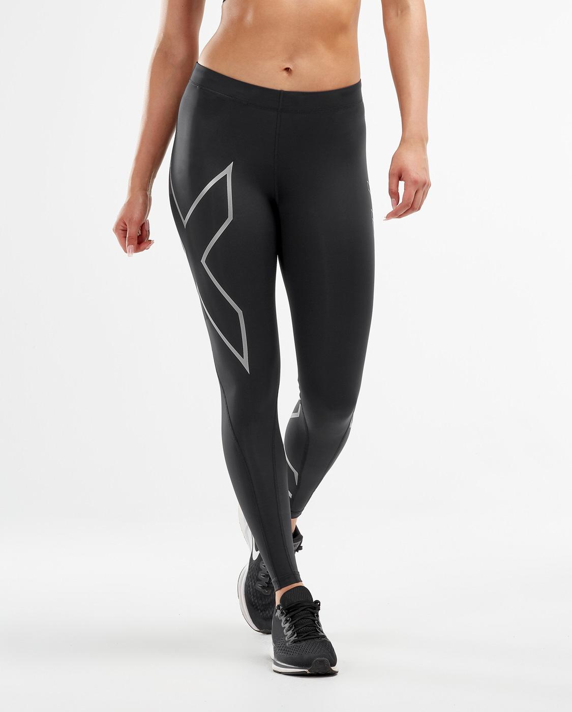 2XU Women's Compression Tights - Black/Silver