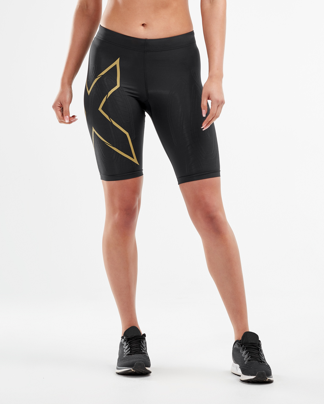 2XU Women's MCS Run Shorts - Black/Gold Reflective