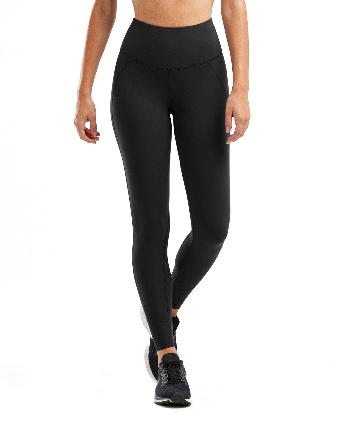 2XU Women's Fitness Hi-Rise Compression Tights - Black/Black Reflective