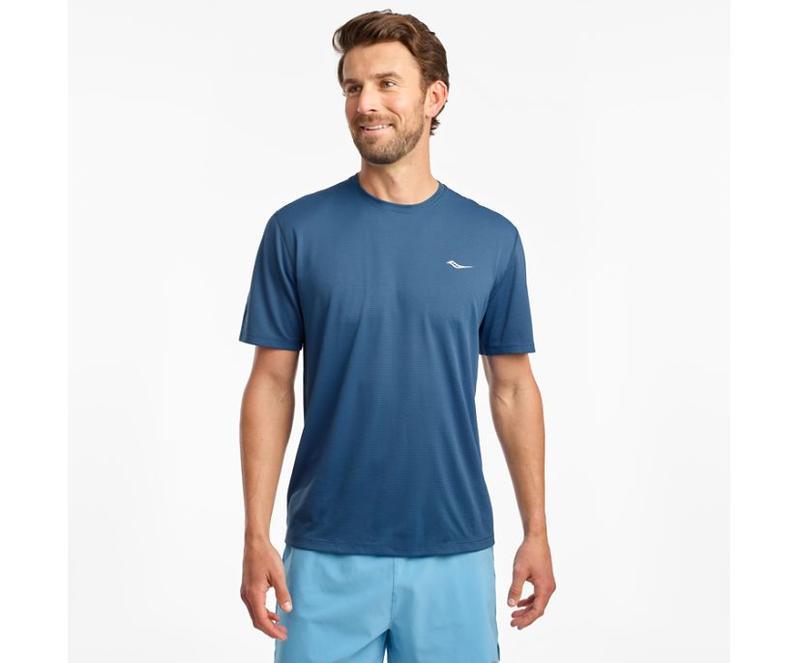 Saucony Men's STOPWATCH Short Sleeve - Ensign Blue
