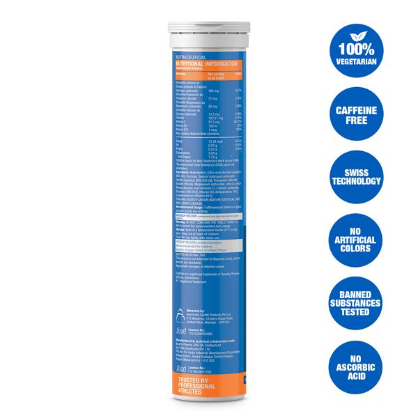 Fast&Up Reload Electrolytes Energy & Instant Hydration Sports Drink - 20 Effervescent Tablets - Lime&Lemon Flavour
