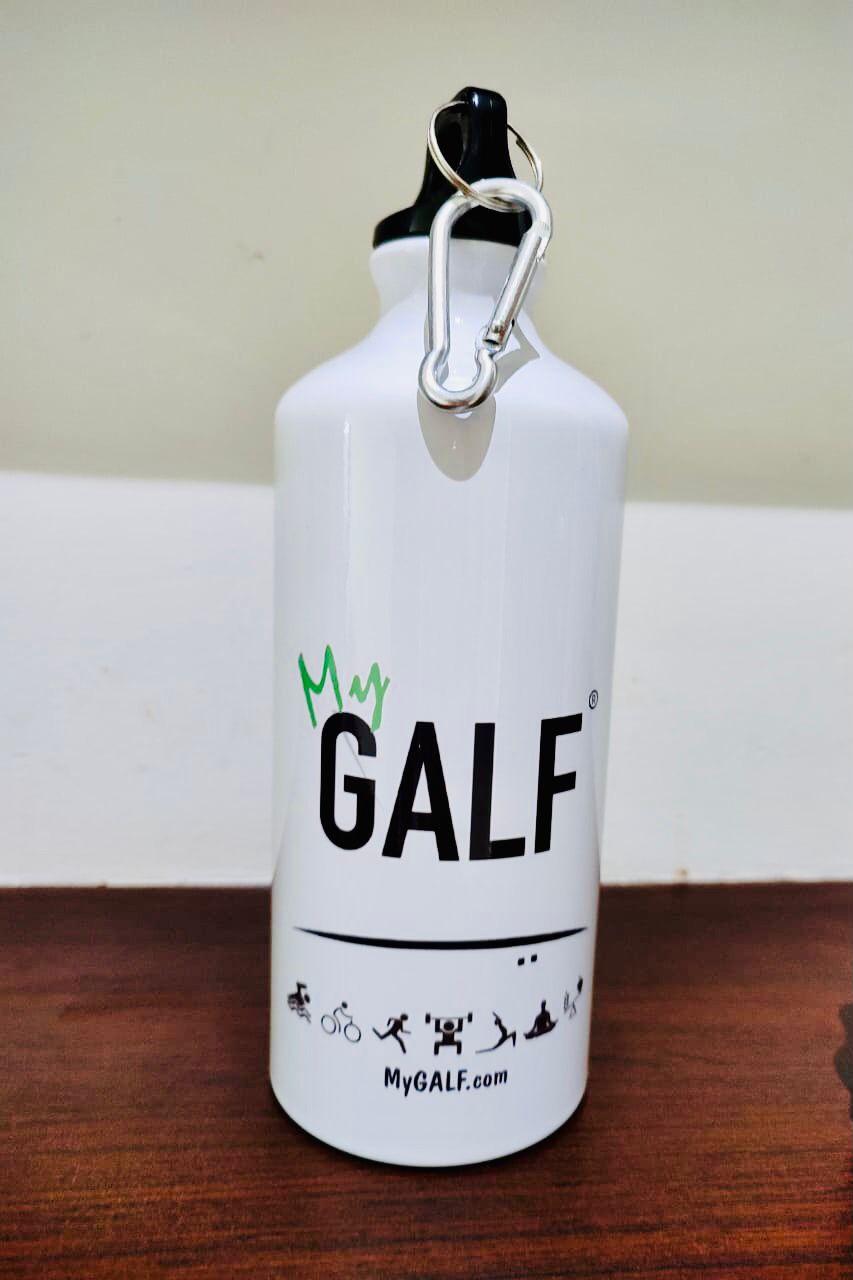 MyGALF Adventure Water Bottle - 600 Ml White