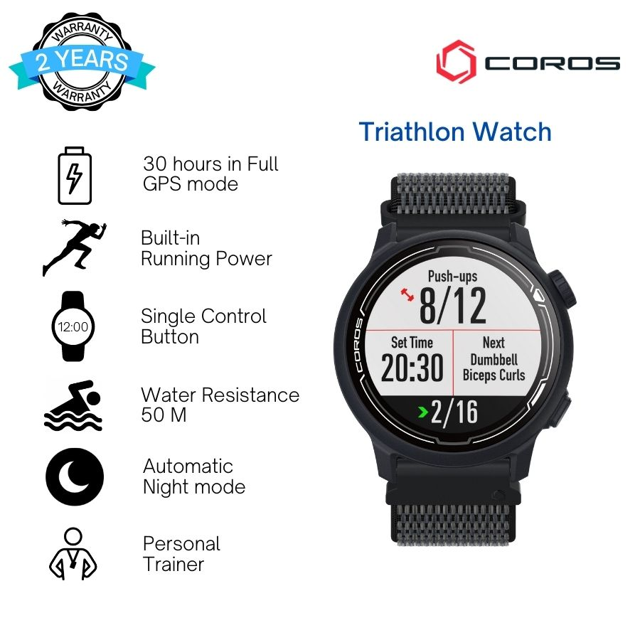 COROS Pace 2 Navy Blue With Nylon Strap
