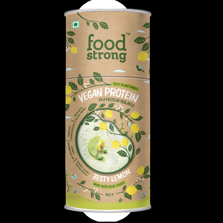 Foodstrong Vegan Protein | Zesty Lemon | 480 G