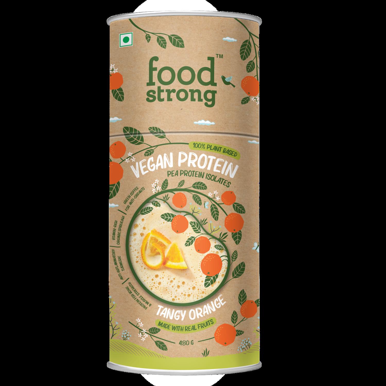 Foodstrong Vegan Protein | Tangy Orange | 480 G