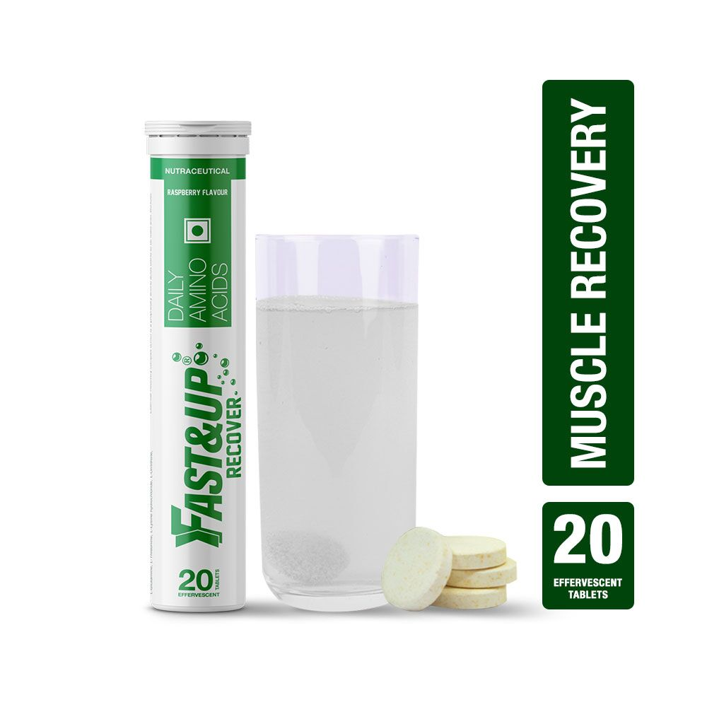 Fast&Up Recover With Essential Amino Acids - 20 Effervescent Tablets - Raspberry Flavour