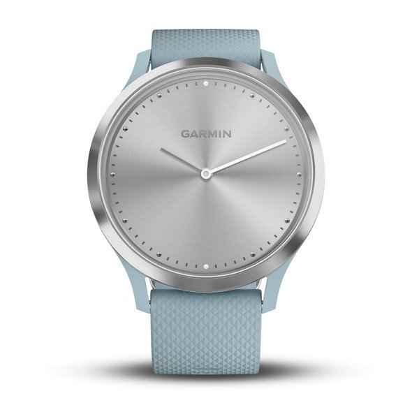 Garmin Vivomove HR Seafoam with Silver Hardware