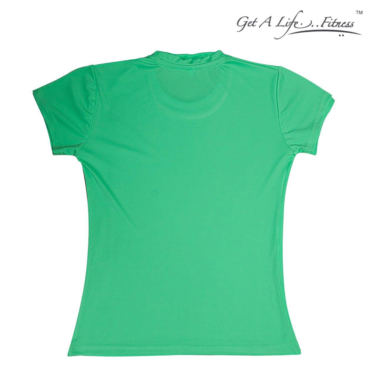 Premium Women Green Round Neck T-shirt