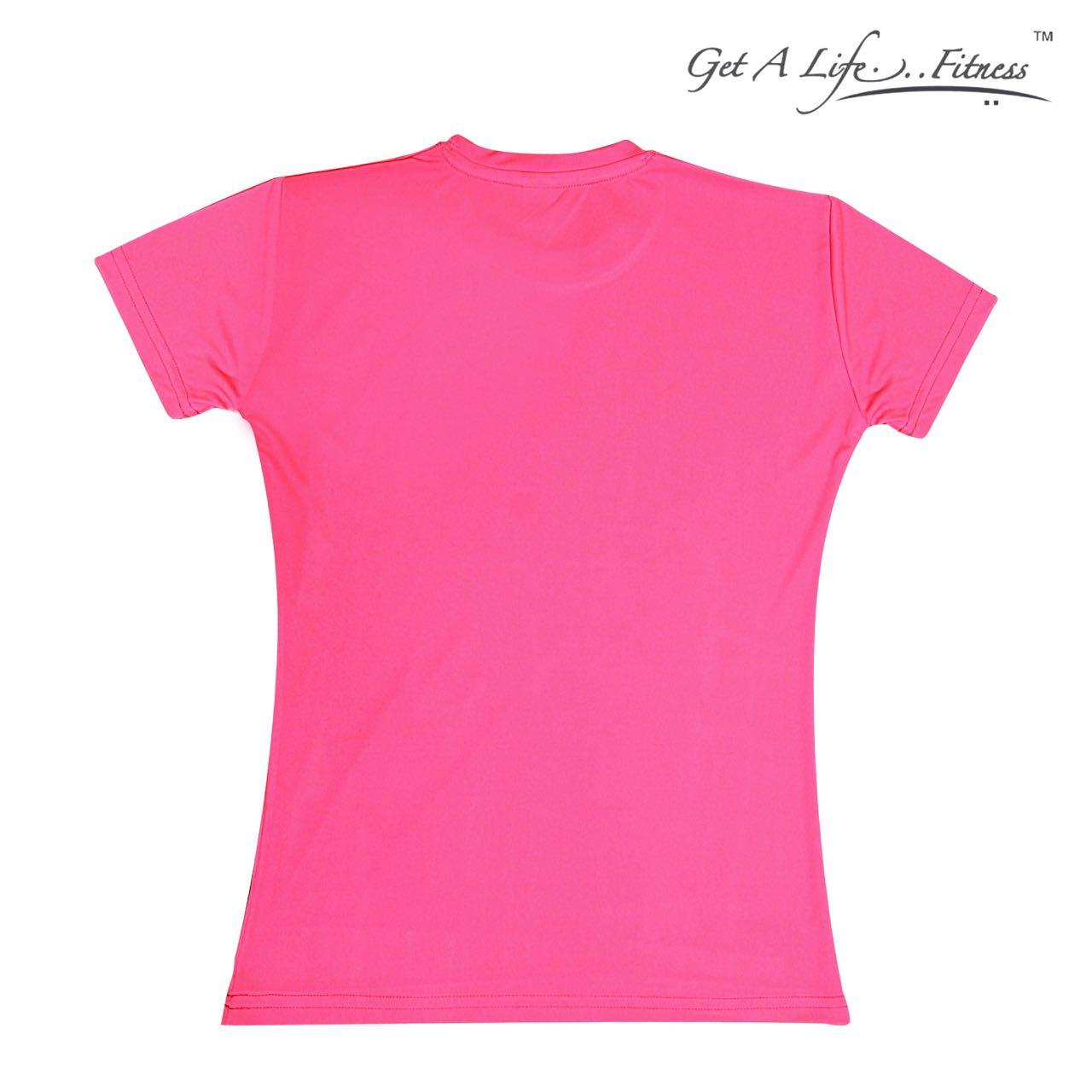 Premium Womens Pink Round Neck T-shirt